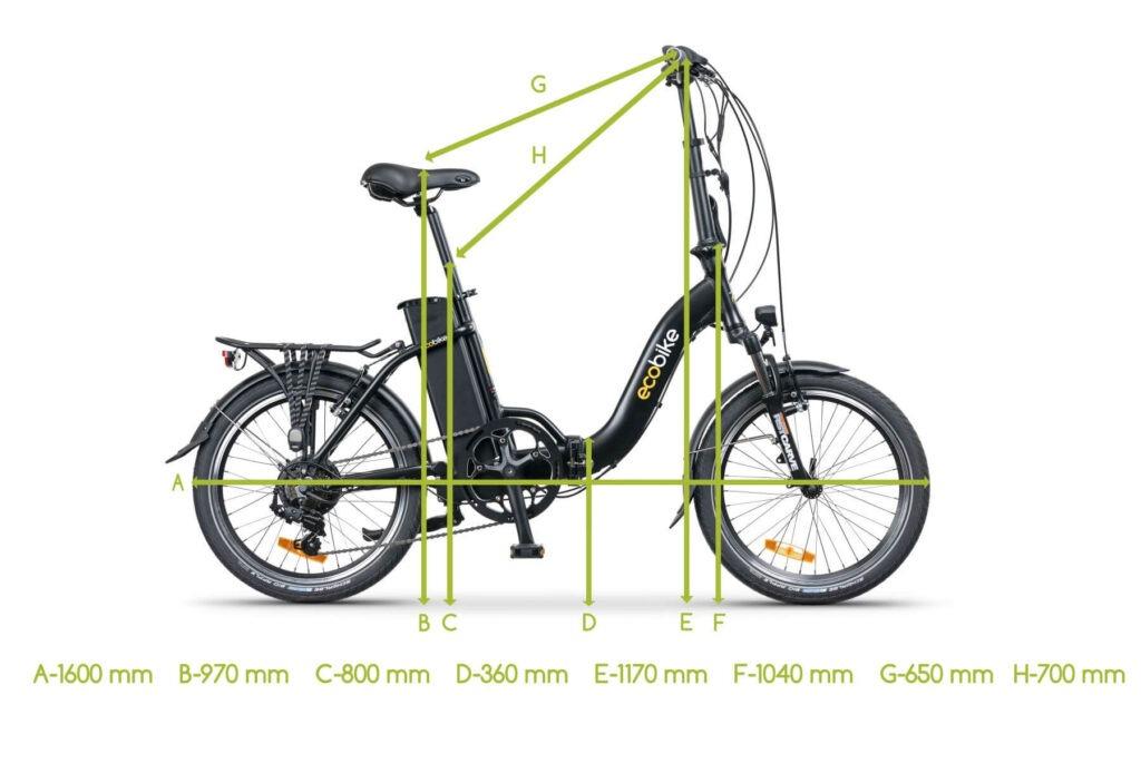 Skladací elektrický bicykel